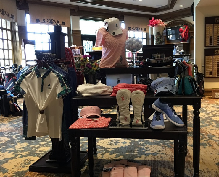 golf apparel display
